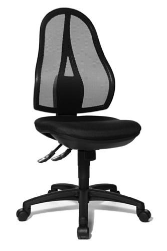 Topstar OP200G20 Open Point SY, Bürostuhl, Schreibtischstuhl, ergonomisch, Bezug schwarz