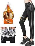 Pantalon de Sudation,Legging Anti Cellulite, Legging Femmes Taille Haute avec Nanotechnologie pour Tonifier des Cuisses et Obtenir Un Ventre Plat Pendant Yoga/Jogging/Pilates/Fitness (M)