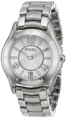 Ebel X-1 Reloj de mujer cuarzo suizo 34mm correa y caja de acero cristal zafiro s. dial plata 1216107