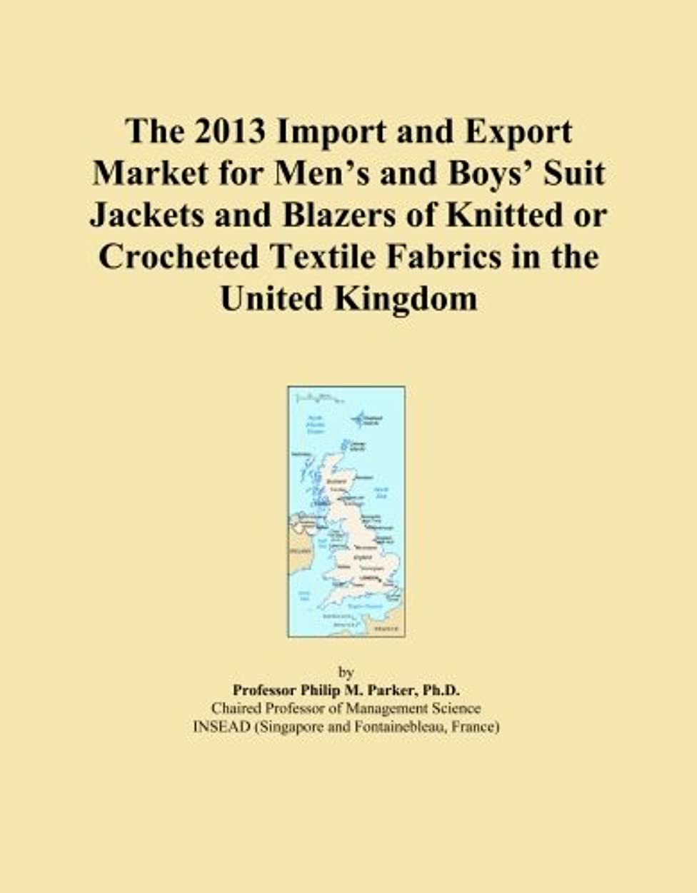 The 2013 Import and Export Market for Men's and Boys' Suit Jackets and Blazers of Knitted or Crocheted Textile Fabrics in the United Kingdom