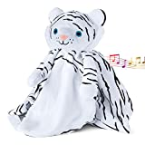 Love By Emi - Unique Baby Crib Soother - Plays Lullaby or White Noise – 2 Sound Lvls - 20 or 40 min Play Length - 0-3 Months to Toddler - Sensory Development - Black & White Tiger