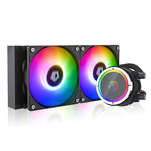 ID-COOLING ZOOMFLOW 240X ARGB CPU Water Cooler 5V Addressable RGB AIO Cooler 240mm CPU Liquid Cooler 2X120mm RGB Fan, Intel 115X/1200/2066, AMD AM4