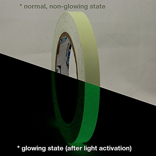 Pro Tapes PRO-GLOW/LLGRN0510 Pro-Glow Glow in The Dark Tape, Luminescent Lime Green
