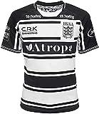 GYTH Camiseta de rugby 2021 de la Liga Británica Hull FC Rugby, 2021 League Rugby Supporter de manga corta (color: negro, tamaño: XXL)