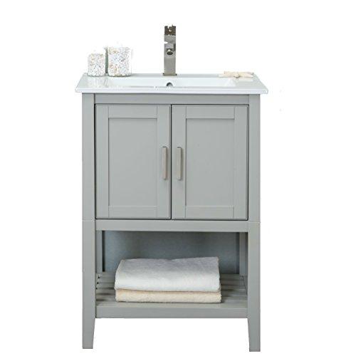 "Legion Furniture WLF6023-RL Bathroom Vanity, 24"", White Gray"
