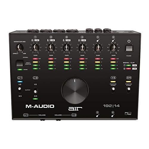 M-Audio AIR 192 14 - Scheda Audio e MIDI USB / USB-C, 8 Entrate, 4 Uscite - per Registrazione Professionale su Mac o PC con Pacchetto Software incluso