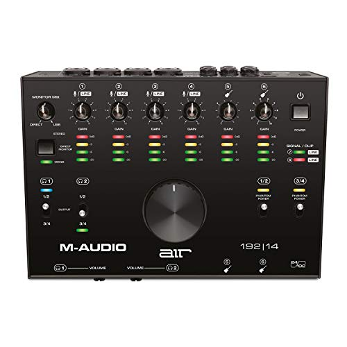 M-Audio AIR 192|14 - Scheda Audio e MIDI USB / USB-C, 8 Entrate, 4 Uscite - per Registrazione Professionale su Mac o PC con Pacchetto Software incluso