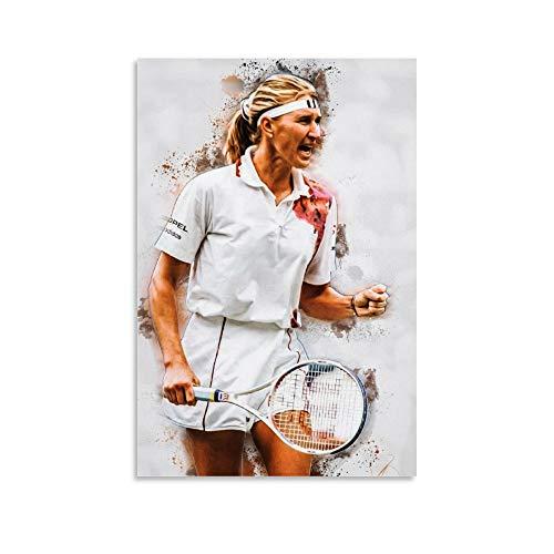 Steffi Graf Poster Tennis Sport Poster 7 Leinwand Wanddekoration Kunst Gemälde Druck für Büro Wohnzimmer Wohnheim – Geschenke für Freund Mann 30 x 45 cm