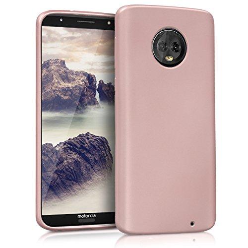 kwmobile Motorola Moto G6 Plus Hülle - Handyhülle für Motorola Moto G6 Plus - Handy Case in Metallic Rosegold