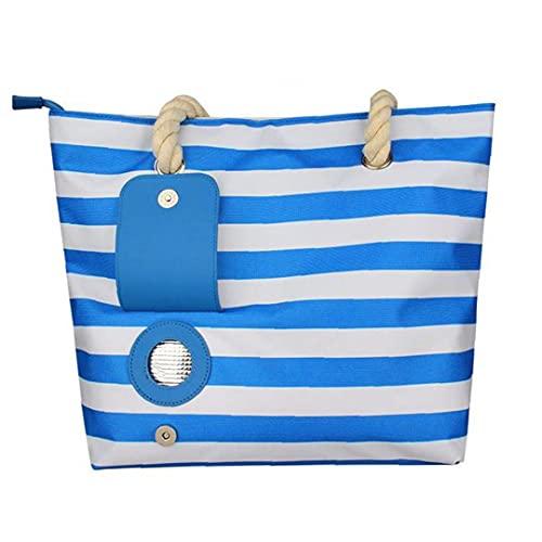 Bolsa De Vino De Playa Bolsa De Asas De Vino De La Raya De La Raya del Vino con El Compartimento Barra Azul Herramientas De Las Gafas