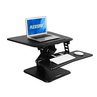FlexiSpot Desk Riser, Height-Adjustable Standing Desk Converter with quick release keyboard tray