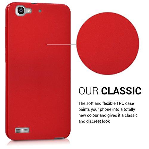 kwmobile Huawei GR3 / P8 Lite SMART Hülle - Handyhülle für Huawei GR3 / P8 Lite SMART - Handy Case in Rot matt - 3