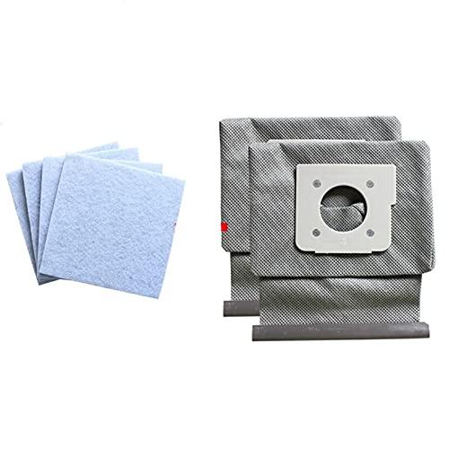 Repuestos Para Aspiradoras 4 * Filtro de algodón del motor + 2 * Ajuste lavable para LG Bolsas de aspiradora Bolsa de polvo Reemplazar Ajuste para LG V-743RH V-2800RH V-2800RB V-2800RIA V-2810