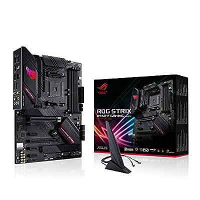 ROG STRIX B550-F GAMING AMD Ryzen AM4 ATX Motherboard (PCIe 4.0, 14 Power Stages, Intel 2.5 Gb Ethernet, Dual M.2, ASUS OptiMem II, AI Noise-Cancelling Microphone, USB 3.2 Gen 2 and Aura Sync)