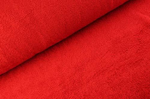 Tejido de rizo por ambos lados a partir de 0,5 m – Ancho 150 cm – 525 g/m de peso – Metro Rojo Singnal.