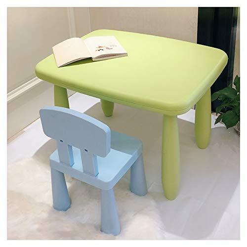 Preisvergleich Produktbild CHAXIA Kindertisch Stuhl Baby Lernen Spieltisch Grüne Tische Blaue,  Rosafarbene Stühle Einfach Zu Säubern,  2 Farben (Color : A)