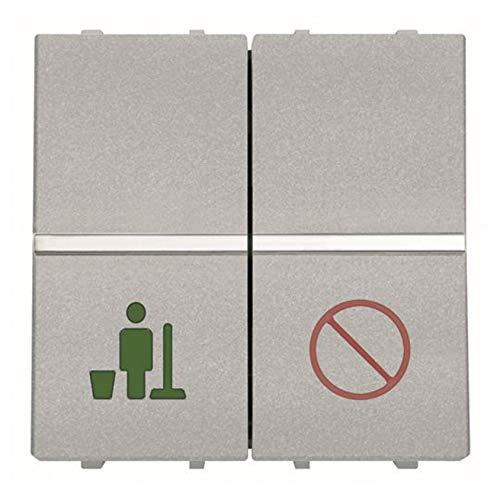 Niessen zenit - Interruptor servicio/no molestar plata