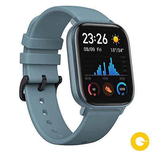 Xiaomi Amazfit GTS Reloj Smartwactch Deportivo | 14 días Batería | GPS+Glonass | Sensor Seguimiento Biológico BioTracker™ PPG | Frecuencia Cardíaca | Natación | Bluetooth 5.0 (iOS & Android) Azul