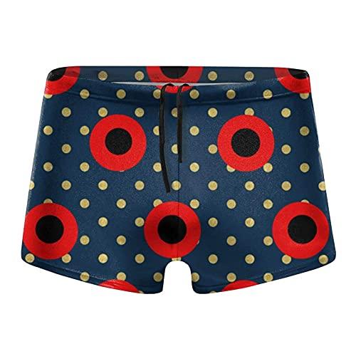 XCNGG Dots On Navy Calzoncillos Tipo bóxer de Secado rápido para Hombre Traje de baño Shorts Trunks Traje de baño XX-Large