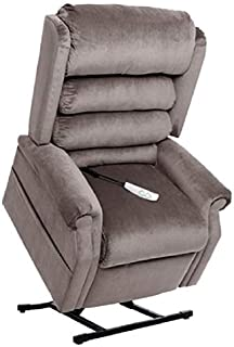 """MM-1950LT Tall Man Galaxy Mega Motion Power Lift Recliner Chair. (Grey) Suggested User Height: 5'10"""" to 6'6"""". Weight Capacity 375 Lbs. Free Curbside Delivery"""