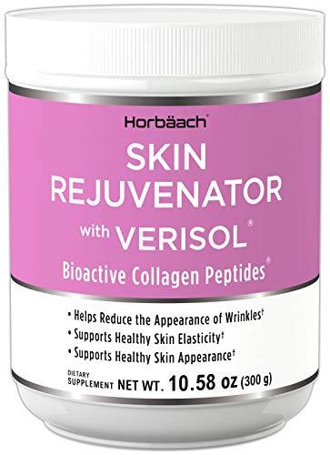 Skin Rejuvenator with Verisol 10.58 oz | Bioactive Collagen Peptide Powder | Types I and III | Non GMO, Gluten Free Supplement | by Horbaach