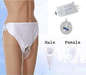 TINWG Sac Collection Urine Portable - Soins à Domicile réutilisable Urine Collecteur - Urine Sac Urinoir Pee Holder 0308 (Size : Female)