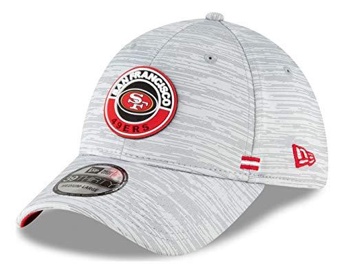 New Era - NFL San Francisco 49ers Onfield 2020 Sideline Road 39Thirty Stretch Cap - Grau Farbe Grau, Größe M-L