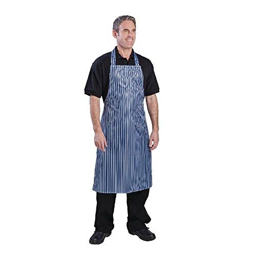 Whites Chefs Apparel A580 nylon schort, 100% waterdicht, blauw/wit gestreept