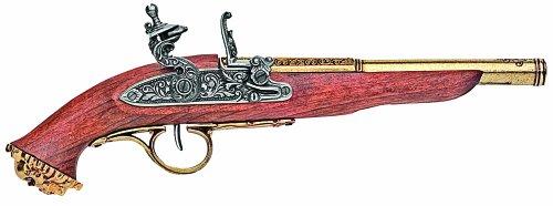 Denix Replica 18. Jahrhundert Trim Pirat, Schießen, Gewehr Pistole Flintlock Antik, Messing