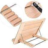 5 Stufen verstellbar Buchständer, Kochbuchhalter aus Holz, Faltbares Kochbuchständer, 32 x 22 x 2 cm - 9