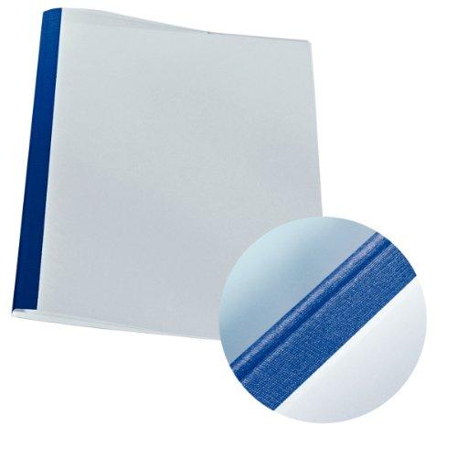 Leitz 177118 Thermobindemappe Leinenoptik, A4, Rückenbreite 1,5 mm, 25 Stück, blau