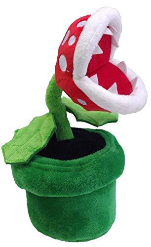 7 inch Super Mario Bros Petey Piranha Soft Plush Toy,Stuffed Animal Doll Flower (Green)