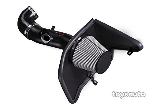 AF Dynamic Black Cold Air Filter Intake Systems with Heat Shield 2010-2011 Compatible With Camaro LS LT 3.6L V6