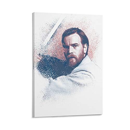 Obi-wan Kenobi Poster, dekoratives Gemälde, Leinwand, Wandkunst, Wohnzimmer, Poster, Schlafzimmer, Gemälde, 60 x 90 cm