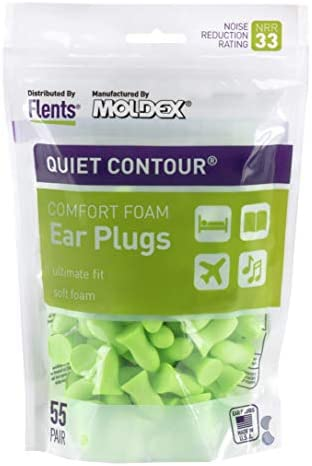 Flents Ear Plugs, 10 Pair with Case, Ear Plugs for Sleeping, Snoring, Loud Noise, Traveling, Concerts, Construction, & Studying, NRR 33