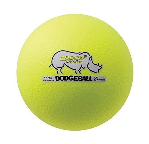 "Champion Sports Rhino Skin Dodgeball (Single, Neon Yellow, 6"")"