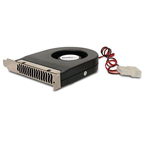 StarTech.com Expansion Slot Rear Exhaust Cooling Fan with LP4 Connector (FANCASE), Black