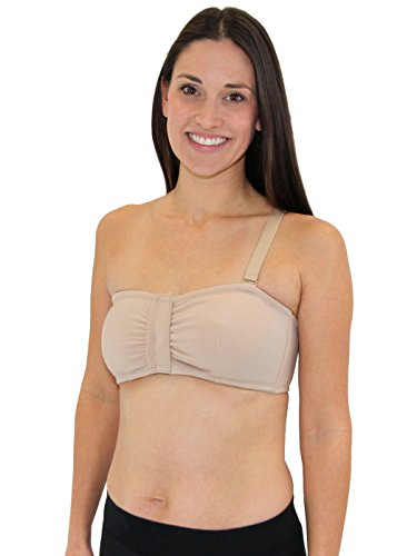 LEADING LADY Surgi-Solutions One Shoulder Bra (XL, Taupe)