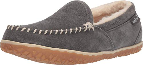 Minnetonka Women's Tempe Suede Slippers 8 M Grey