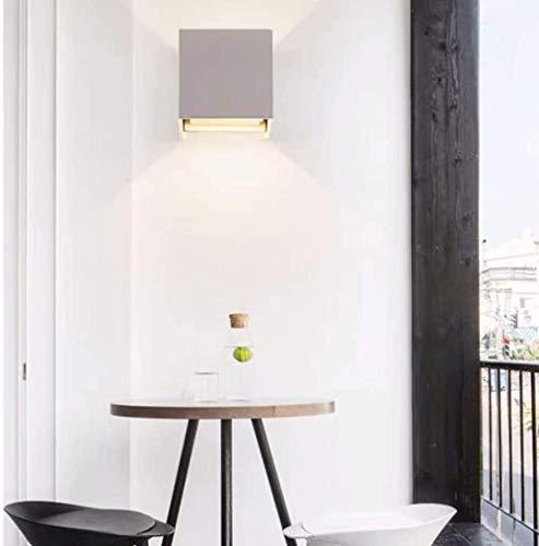 Dormitorio minimalista moderno junto a la cama nórdico impermeable al aire libre balcón pared de la sala de estar lámpara LED creativa 10 * 10 * 10 CM