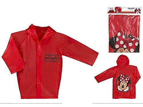 ColorBaby Minnie Impermeable Chubasqueto T/4-6Años, Rojo, 4-6 años