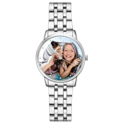 &#9752【SPECIAL OCCASIONS DESERVE SPECIAL】 Custom Photo Watch Replace your example photo with one of your own to create a one of a kind personalized gift for you or a loved one. Cherish your memories and create a treasured keepsake gift with our custo...
