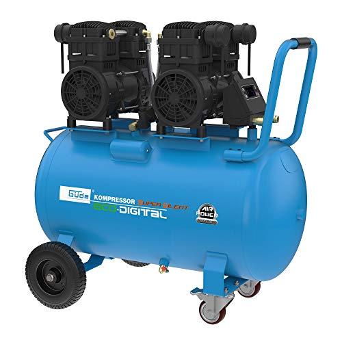 Güde 50140 Kompressor Airpower 375/8/100 ED-SILENT (Ölfreier - 4-Zylinder Kolbenkompressor, Digitaler Druckschalter)