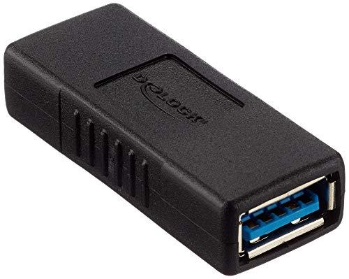 Delock - Adaptador USB 3.0 (Hembra/Hembra)
