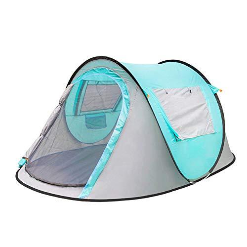 DOLA 3-4 Person Pop-up Familie Campingzelt, Robuste wasserdichte Zelte für Beach Park Wandern im Freien,Blau