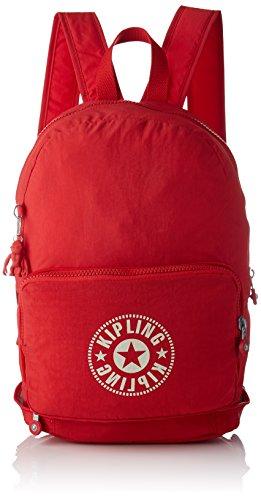 Kipling CLASSIC NIMAN FOLD Mochila tipo casual, 49 cm, 21 liters, Rojo (Lively Red)