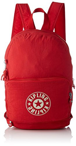 Kipling CLASSIC NIMAN FOLD Zaino Casual, 49 cm, 21 liters, Rosso (Lively Red)