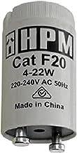 HPM F20 4-22W Fluorescent Starter 4-22W Fluorescent Starter, White, 1 Count (Pack of 1)