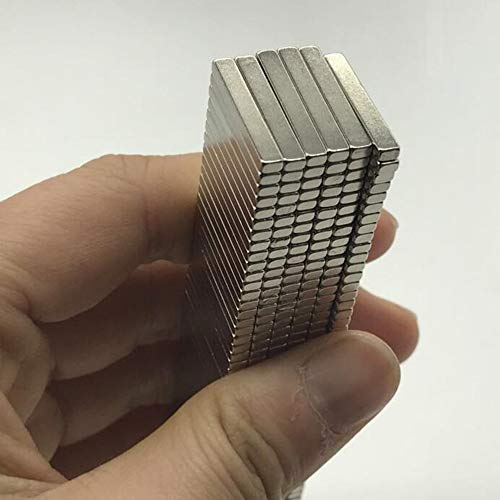 RectangleRefrigerator Magnets, 40PCS 20mm×3mm×2mm, Office Magnets, Whiteboard Magnets, Durable Mini Magnets