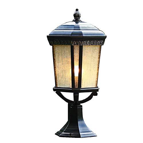 DEI QI Lanterna di Vetro Europea Lampada pilastro a Colonna per Esterni E27 Fence Park Villa Parking Gate Gazebo Colonna Lampada da Tavolo in Alluminio a Luce Pioggia